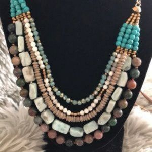 Nakamol Chicago Turquoise Adjustable Necklace